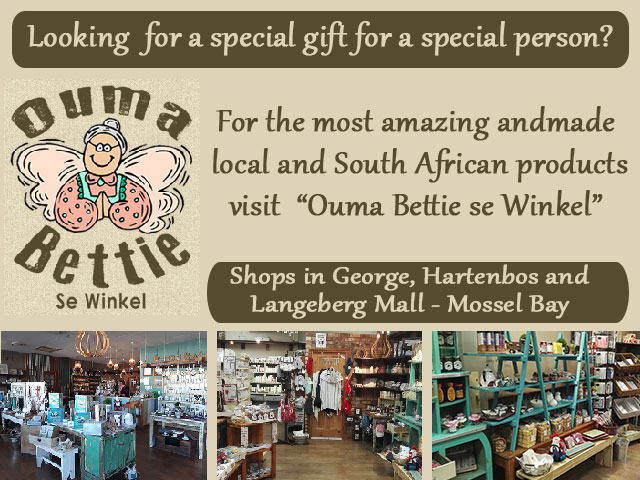 "Unique Gifts from ""Ouma Bettie se Winkel"" in the Garden Route"