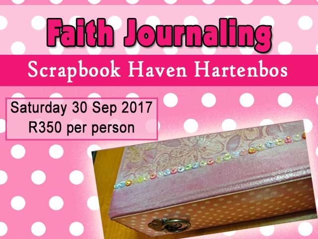 September Faith Journaling Class in Hartenbos