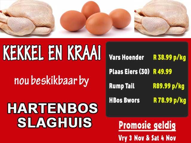 Kekkel en Kraai nou by Hartenbos Slaghuis