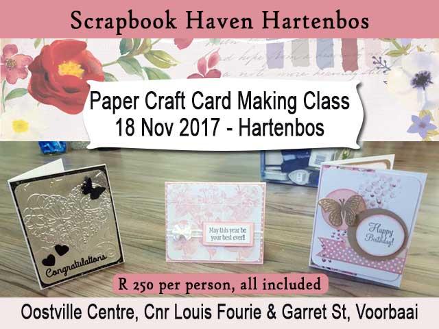 Paper Craft Card Making Class in Hartenbos