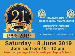 Strandloper Animal Clinic Celebrates its 21st Birthday